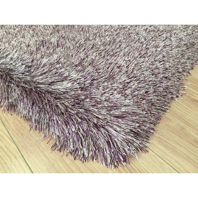 Shag Rug - Rug Factory Plus, Lurex Shag Collection, Purple Long Pile Shag Area Rug