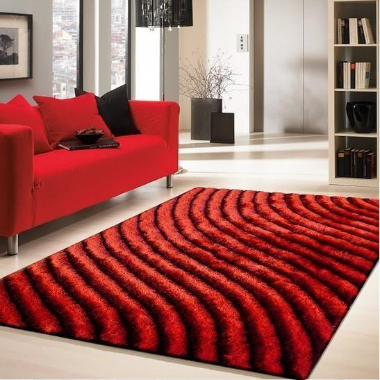 Shag Rug - Rug Factory Plus, Shaggy 3D 303 Red Area Rug