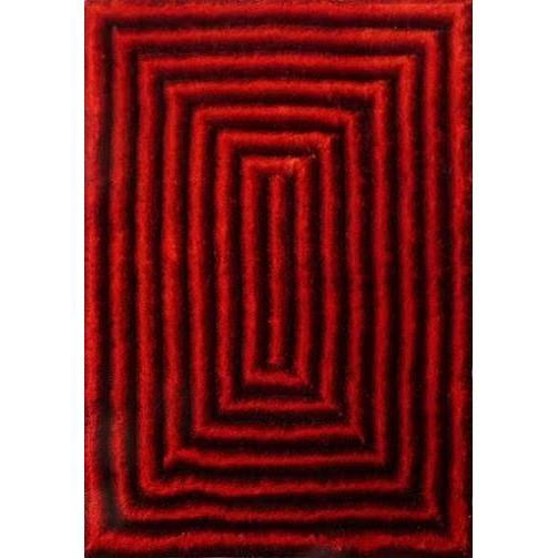 Shag Rug - Rug Factory Plus, Shaggy 3D 305 Black Red Area Rug