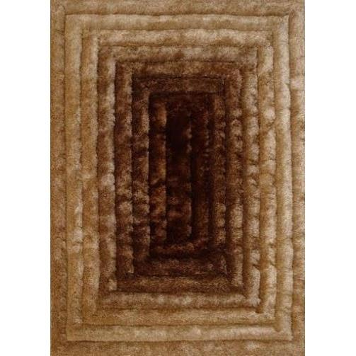 Shag Rug - Rug Factory Plus, Shaggy 3D 305 Gold Brown Area Rug