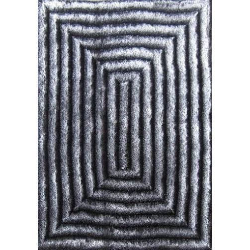 Shag Rug - Rug Factory Plus, Shaggy 3D 305 Gray Area Rug
