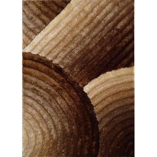 Shag Rug - Rug Factory Plus, Shaggy 3D 309 Gold Brown Area Rug