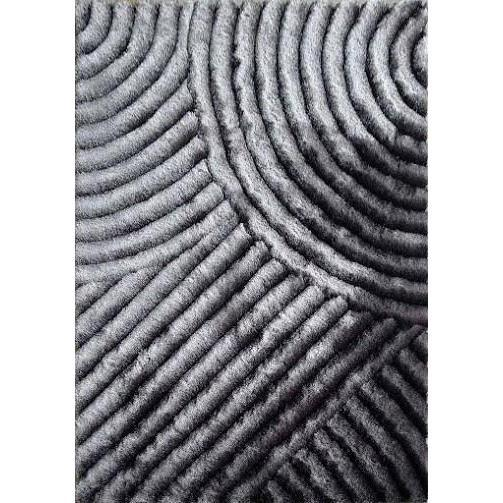 Shag Rug - Rug Factory Plus, Shaggy 3D 309 Gray Area Rug