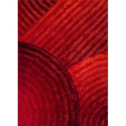 Shag Rug - Rug Factory Plus, Shaggy 3D 309 Red Area Rug