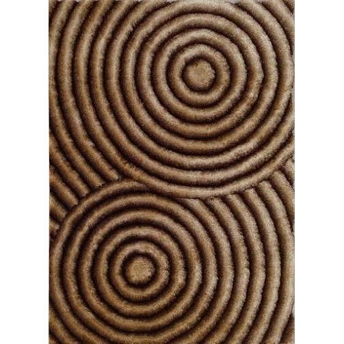 Shag Rug - Rug Factory Plus, Shaggy 3D 313 Gold Brown Area Rug