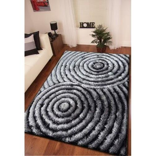 Shag Rug - Rug Factory Plus, Shaggy 3D 313 Gray Area Rug