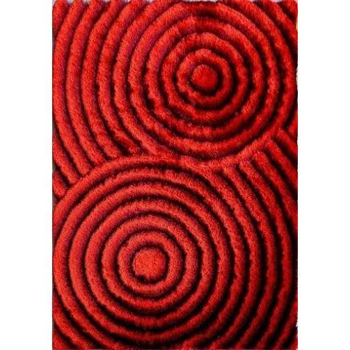 Shag Rug - Rug Factory Plus, Shaggy 3D 313 Red Area Rug
