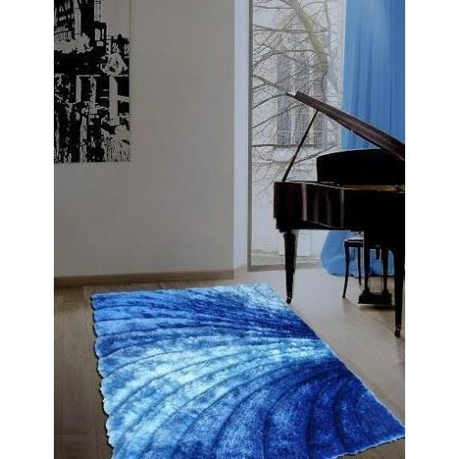 Shag Rug - Rug Factory Plus, Shaggy 3D 315 Blue Area Rug