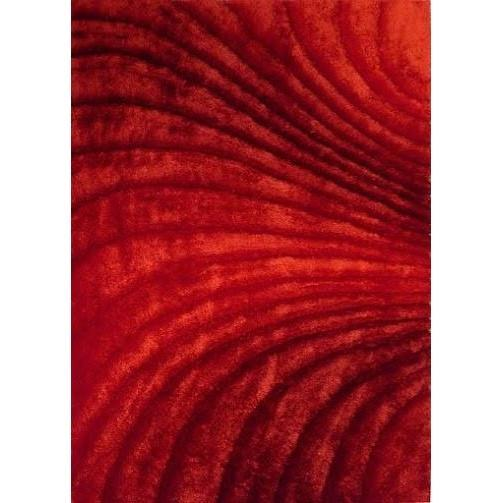 Shag Rug - Rug Factory Plus, Shaggy 3D 315 Red Area Rug