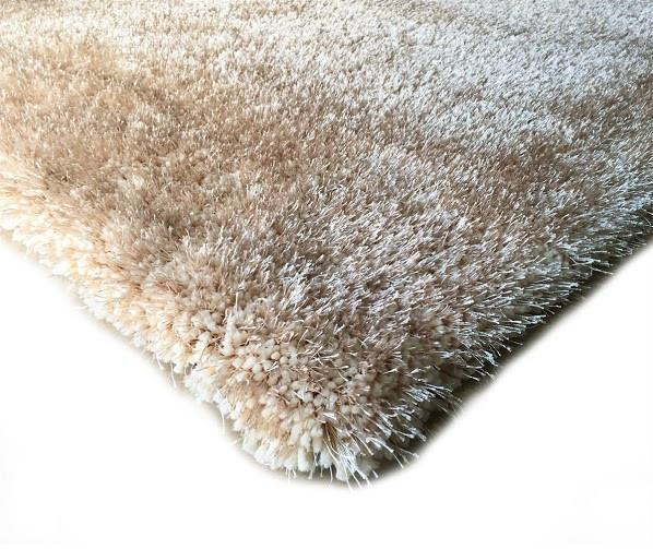 Shag Rug - Rug Factory Plus, Shaggy Viscose Solid Collection, Beige Shag Area Rug