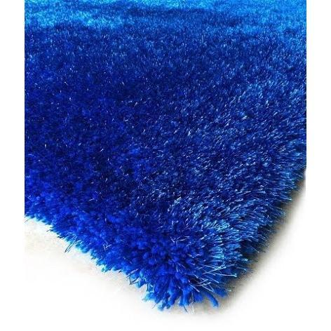 Shag Rug - Rug Factory Plus, Shaggy Viscose Solid Collection, Electro Blue Shag Area Rug