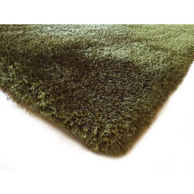 Shag Rug - Rug Factory Plus, Shaggy Viscose Solid Collection, Hunter Green Shag Area Rug