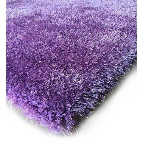 Shag Rug - Rug Factory Plus, Shaggy Viscose Solid Collection, Lavender Shag Area Rug