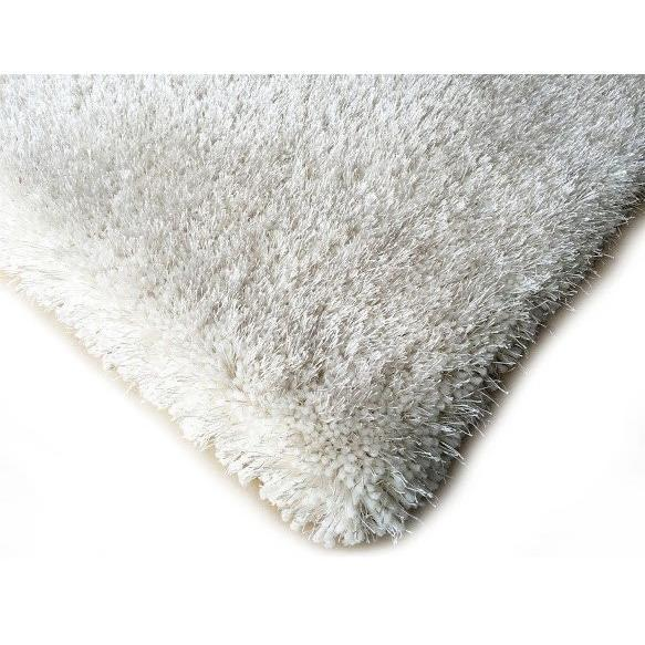 Shag Rug - Rug Factory Plus, Shaggy Viscose Solid Collection, Off White Shag Area Rug