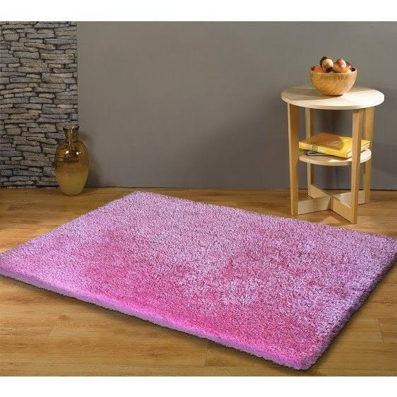 Shag Rug - Rug Factory Plus, Shaggy Viscose Solid Collection, Pink Shag Area Rug