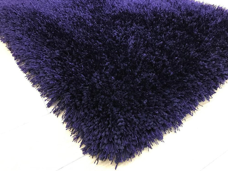 Shag Rug - Rug Factory Plus, Shaggy Viscose Solid Collection, Purple Shag Area Rug
