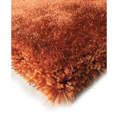 Shag Rug - Rug Factory Plus, Shaggy Viscose Solid Collection, Rust Shag Area Rug