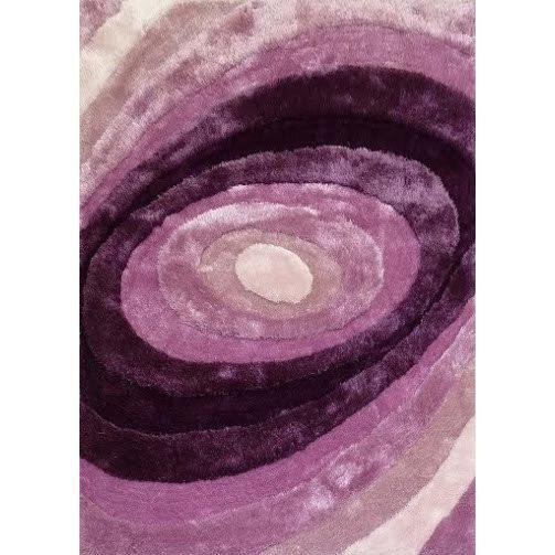 Synthetic Rug - Rug Factory Plus, Living Shag Collection, Design 105 Lavender Area Rug