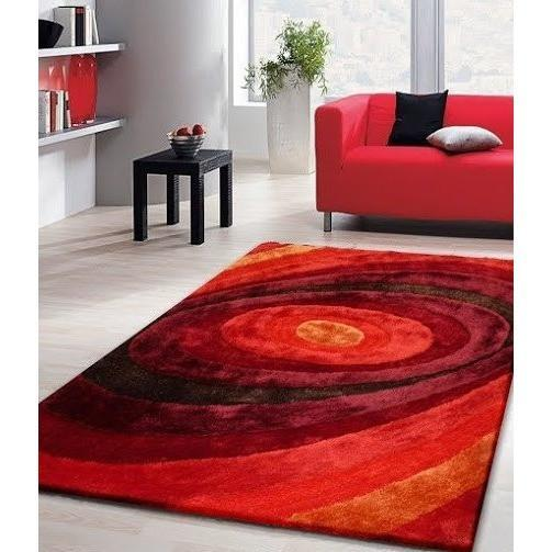 Synthetic Rug - Rug Factory Plus, Living Shag Collection, Design 105 Red Area Rug