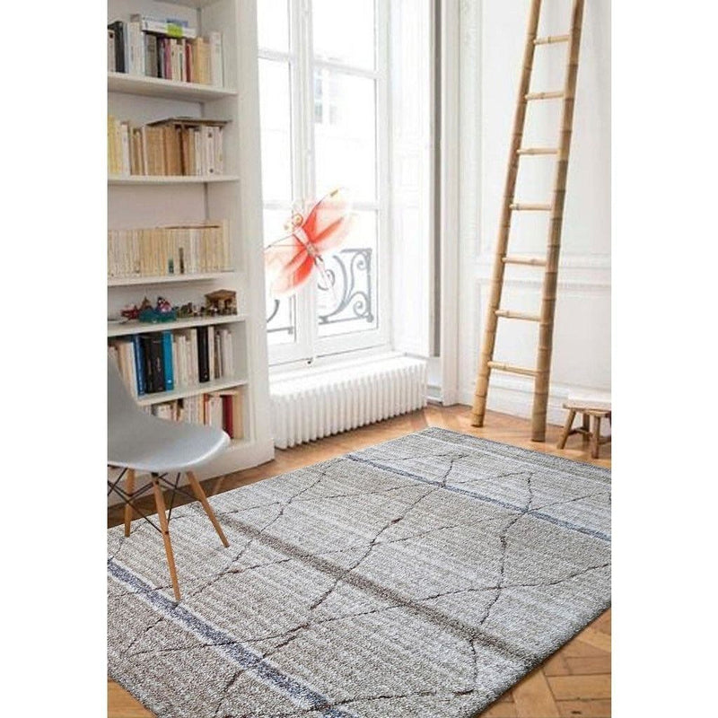 Synthetic Rug - Rug Factory Plus, Moro Shag Collection, Moro 1200 Beige Combo Area Rug
