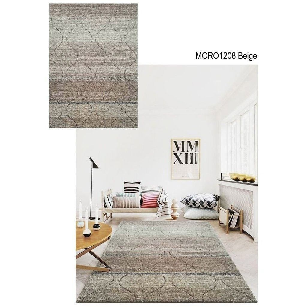 Synthetic Rug - Rug Factory Plus, Moro Shag Collection, Moro 1208 Beige Area Rug