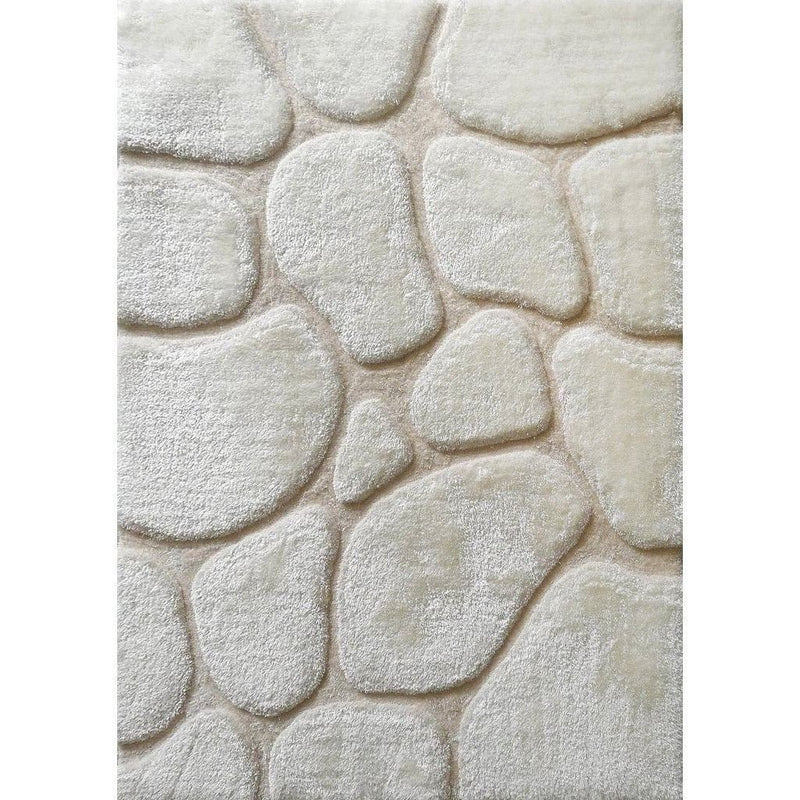 Synthetic Rug - Rug Factory Plus, Rocks Collection, Hand-Tufted Area Rug, Ivory