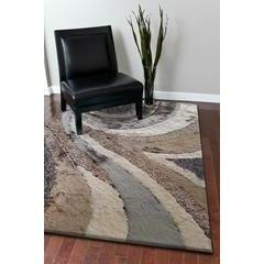 Synthetic Rug - Rug Factory Plus, Shaggy Viscose Hand-Tufted Design 26 Area Rug, Beige/Gray Earth