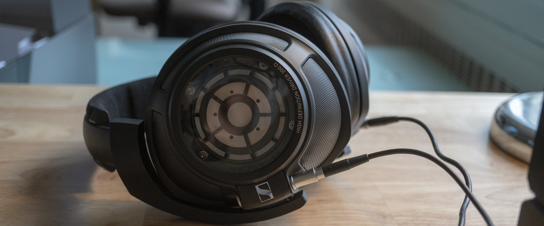 Sennheiser HD 820 Closed-Back Headphones on a work desk