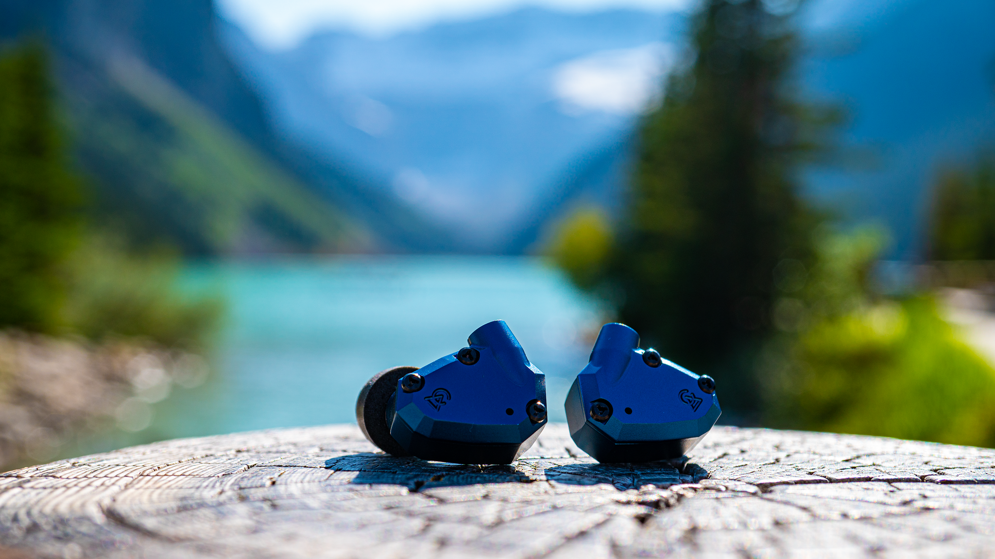 Campfire Audio Polaris V2 In-Ear Monitor Headphones on Lake Louise in Alberta