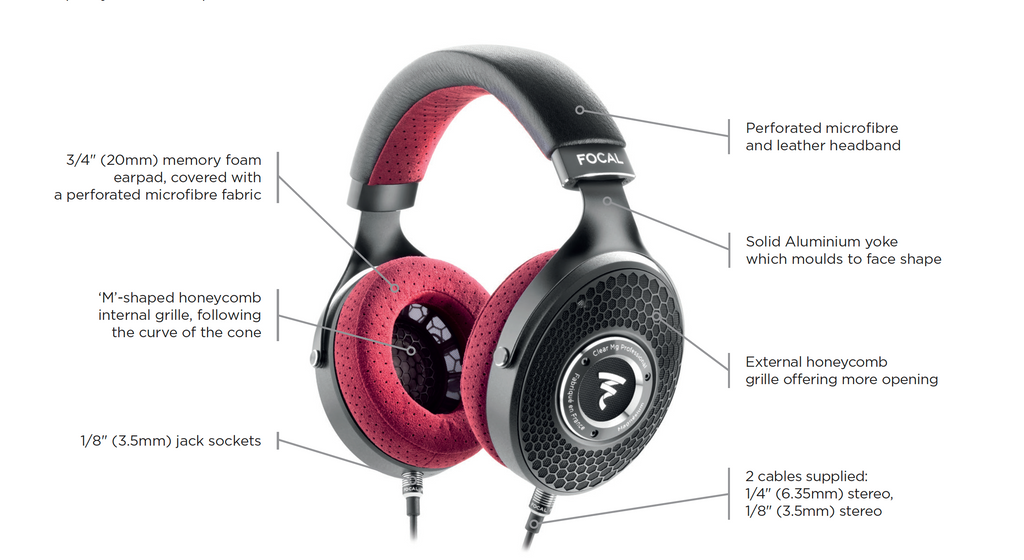 Focal Clear Mg Professional Over-Ear open-back headphones highlights | Available on Headphones.com