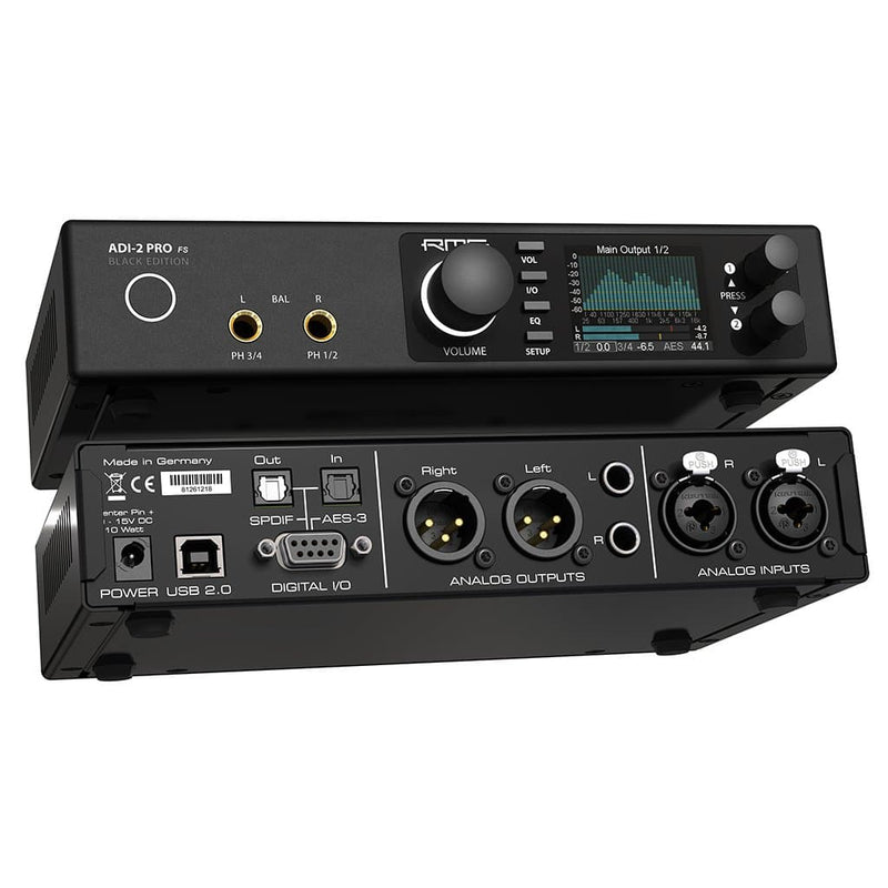 RME ADI-2 Pro FS Black Edition Desktop Headphone Amplifier & DAC | Available for purchase on Headphones.com