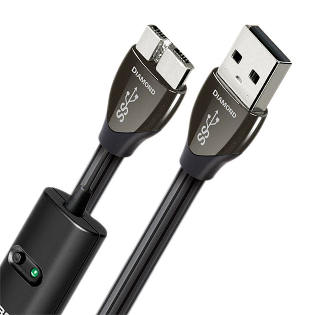 AudioQuest Diamond USB Digital Interconnect Cables AudioQuest USB A 3.0 to Micro 3.0 0.75M