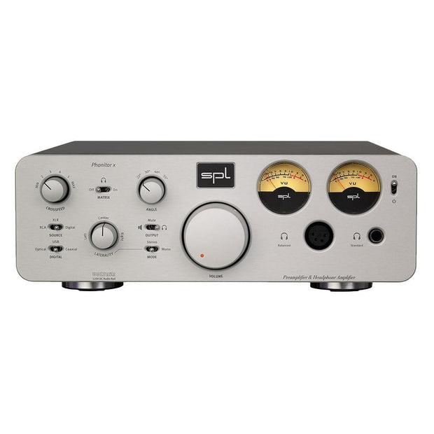 SPL Phonitor X Headphone Amp Headphone Amplifiers SPL Silver Without DAC