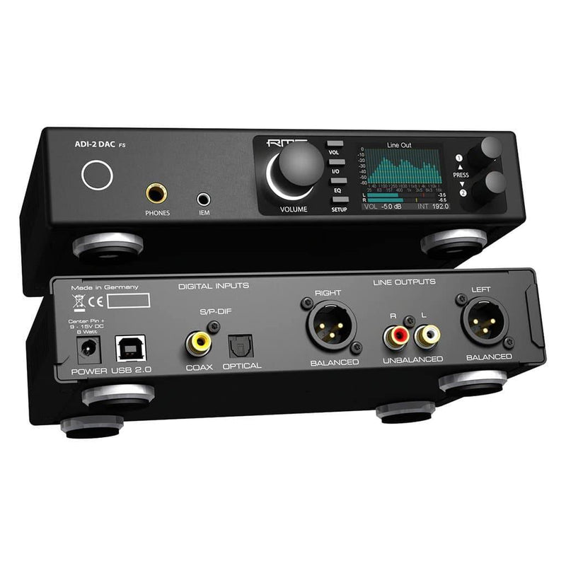 RME ADI-2 DAC FS Desktop Headphone Amplifier and Digital to Analog Convertor | Available for purchase on Headphones.com