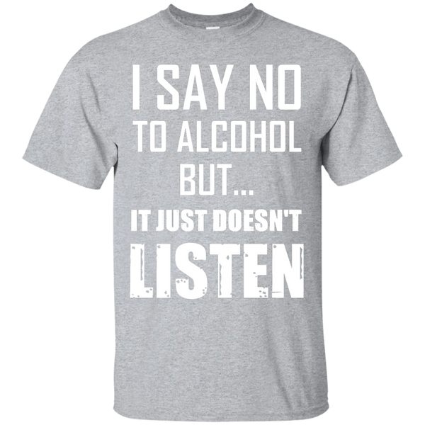 I say NO to alcohol