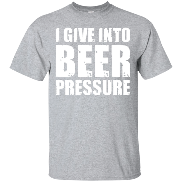 I give into beer pressure