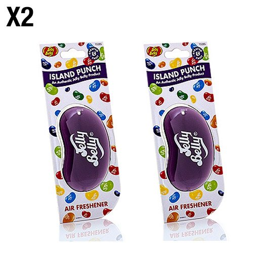 Jelly Belly 15255 3D Air Freshener- Island Punch - Super Tyre Tec