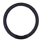 MICHELIN 33252 Premium Faux Leather Steering Wheel Cover- Black Stich