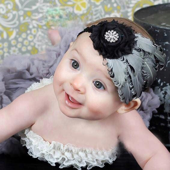 SUCH A DARLIN' Baby Girl Feather Headbands