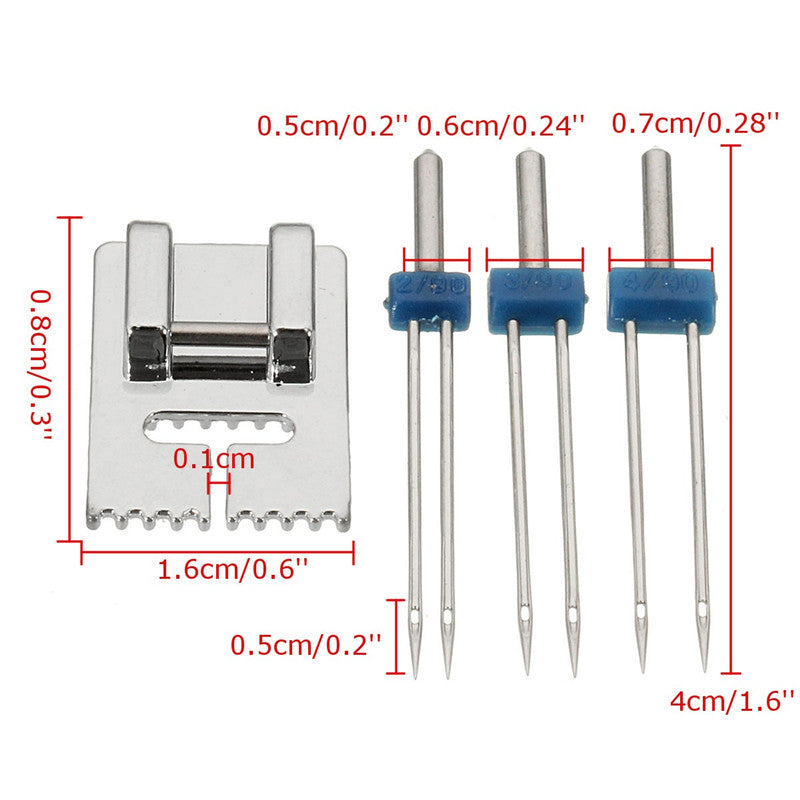 GROOVY Pintuck Presser Foot (with 3 Twin Needles)