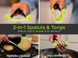 Clever Tongs: 2-in-1 Kitchen Spatula and Tongs