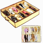 Transparent 12 Pairs Shoes Organizer Holder Under Bed Closet Storage Box
