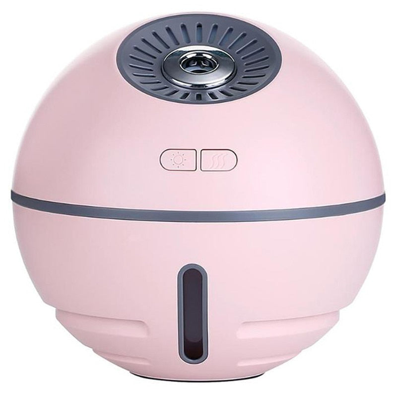 Humidifier with USB LED Lamp and Fan