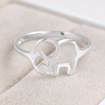 """Elephant"" 925 Sterling Silver Ring"