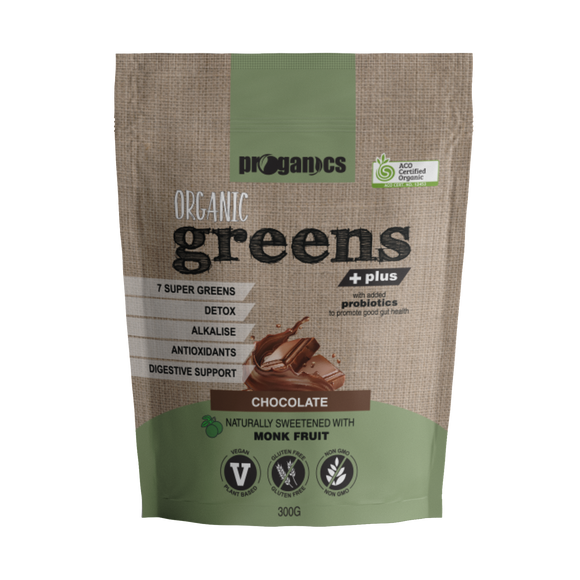 Organic Greens Plus 300g 30 Serves