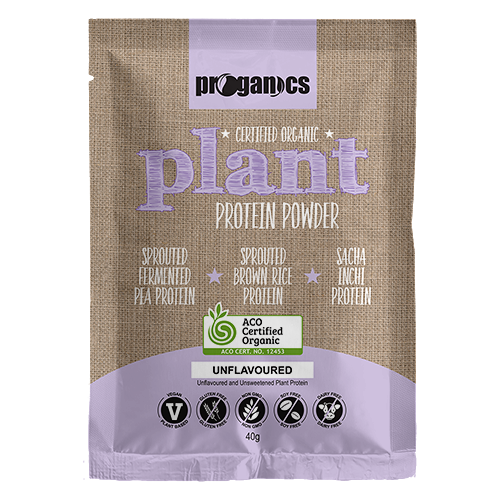 Organic Plant Protein Powder 40g Single Serve Sachet