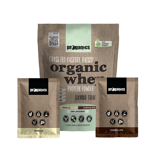 Organic Whey Protein Powder Trial Pack