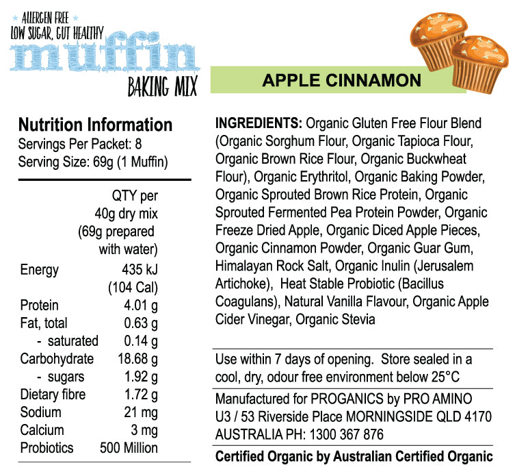 Protein Muffin Baking Mix Proganics