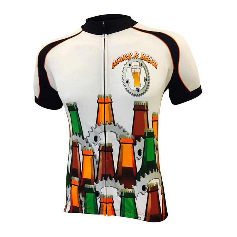2018 Men Beer cycling  sleeved jerseys