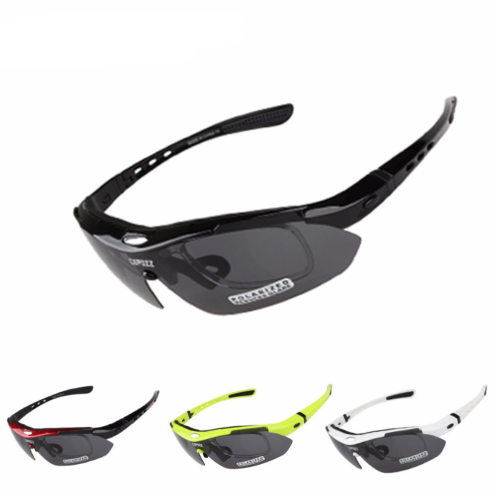 d4d5bfd24d1d ... COPOZZ cycling glasses Bicycle sports MTB polarized sunglasses for men Anti  UV protection goggles 3 lenses ...